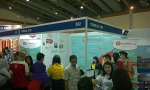 Keseruan Booth Travelio.com di Ajang Indonesia Travel Fair