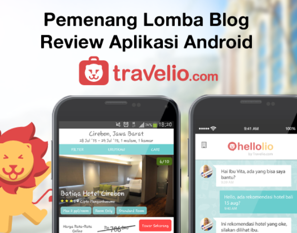 Pemenang Lomba Blog Review Aplikasi Android Travelio #HelloLio