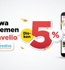 Sewa apartemen Travelio Diskon 5% Pakai Kredivo